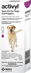 Activyl 3.08ml Large Dogs (44-88 Lbs) Purple 6 X6-Dose� B36 By Merck Animal Heal
