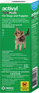 Activyl Plus 0.5ml Toy Dogs (4-11Lbs) Blue 6 X6-Dose� B36 By Merck Animal Health
