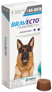 Bravecto 1000mg Large Dogs Blue (44-88Lbs) 10X1-Dose� B10 By Merck Animal Health
