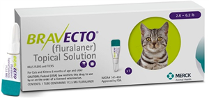 Bravecto 112.5mg Feline Topical Green (2.6-6.2Lbs)� B10 By Merck Animal Health