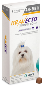 Bravecto 112.5mg Toy Dogs Yellow (4.4-9.9Lbs) 10X1-Dose� B10 By Merck Animal Hea