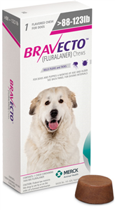 Bravecto 1400mg XLarge Dogs Pink (88-123Lbs) 10X1-Dose� B10 By Merck Animal Heal