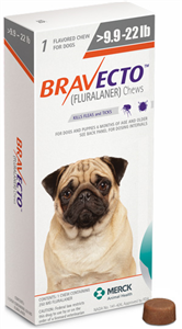 Bravecto 250mg Small Dogs Orange (9.9-22Lbs) 10X1-Dose� B10 By Merck Animal He