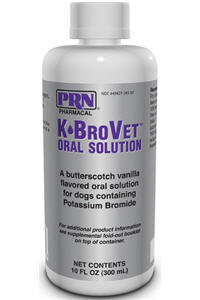 K+Brovet Oral Solution (Potassium Bromide) Butterscotch-Vanilla Flavor 250Mg/ml