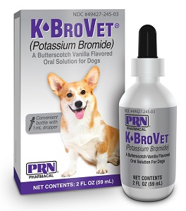 K+Brovet Oral Solution [Potassium Bromide] Butterscotch-Vanilla Flavor 2 oz By P
