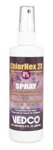 Chlorhex 2X Topical Spray (Chlorhexidine Gluconate 4%) 8 oz By Vedco(Vet)