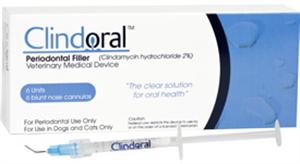 Clindoral Periodontal Filler (Clindamycin) Box = 4 X0.5ml Syringes B4 By Vedco(V
