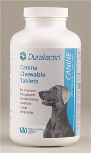 Duralactin Canine Chew Tabs 1000mg (Vanilla Flavor)� B180 By Veterinary Products