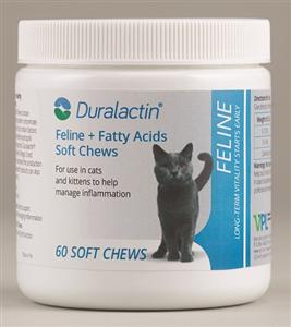 Duralactin Feline Fatty Acids [Liver Flavor] Soft Chews B60 By Veterinary Produc