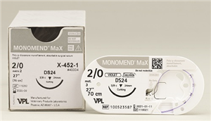 Suture #0 Monomend Max [Hr37S] 1/2 Circle Tpr 37mm / 27 Violet [Rx-Z467]� B12 B