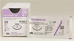 Suture #1 Polymend Mt [Hs37S] 1/2 Circle Rev Cut / 27 Violet [V-468-1] B12 By V