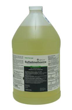 Sulfadimethoxine 12.5% Oral Solution Gal By Vet One Item No.:Vet-Rx-MW 501004<Br>Mfr<Br>Vet One <Br>Sku<Br>501004<Br>Unit<Br>Gal<Br>Mfr Code<Br>004-11<Br>Vendor Skus<Br>202533 | 78 | MW sdmosk<Br>Case