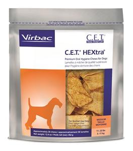 Cet Hextra Chews For Dogs (11 - 25Lbs) Medium B30 By Virbac
