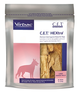 Cet Hextra Chews For Dogs (26 - 50Lbs) Large B30 By Virbac