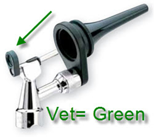 Otoscope Lens Holder Assembly Green Vet Each By Welch Allyn
