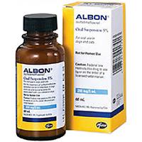 Albon Oral Suspension 5% 2 oz By Zoetis