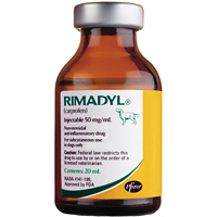Rimadyl Injectable (Carprofen) 20cc By Zoetis