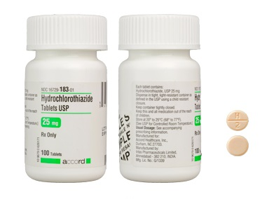 Hydrochlorothiazide Tab 25mg - Scored B100 By Accord Healthcare