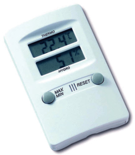 Digital Thermometer Hygro - Desk Or Wall Mount Each By Agri-Pro Enterprises