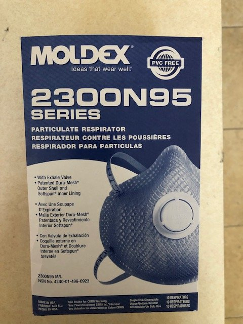 Moldex Mask 2300 N95 Respirator With Exhale Valve Bg10 By Agri-Pro Enterprises Item No.:Vet-OTC-MW 034988<Br><Br>Manufacturer:Agri-Pro Enterprises<Br>MW SKU:034988<Br>Manf Code:372300<Br>Rx:No<Br>Huma