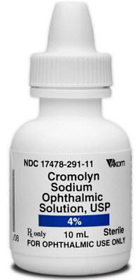 Cromolyn Sodium Ophthalmic Solution 4% 10cc By Akorn