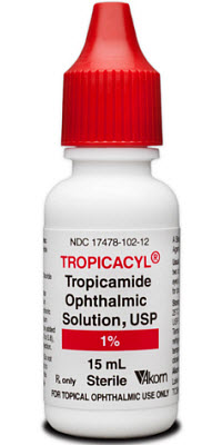 Tropicacyl (Tropicamide Ophthalmic Solution 1%) 15cc By Akorn