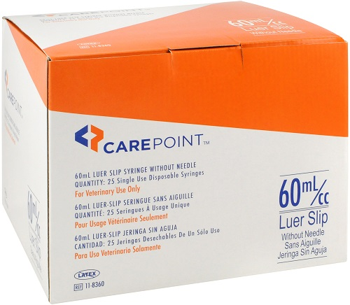 Syringes Carepoint Slip Tip 60cc B25 By Allison Medical