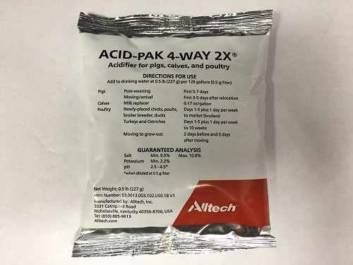 Acid Pak 4 Way 2X - Water Soluble Pack By Alltech