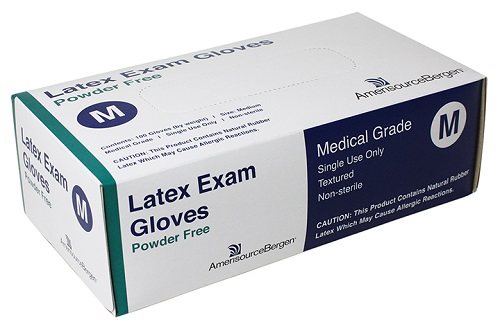 Exam Glove Powder Free Latex - Medium B100 By Amerisourcebergen