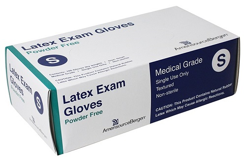 Exam Glove Powder Free Latex - Small B100 By Amerisourcebergen