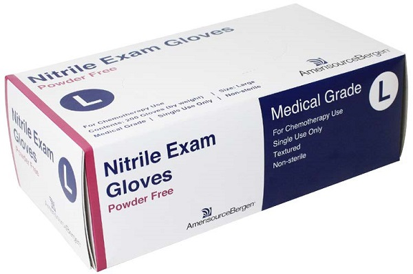 Glove Exam Nitrile Powder Free Blue - Large - Chemo Rated B200 By Amerisourceber