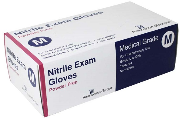 Glove Exam Nitrile Powder Free Blue - Medium - Chemo Rated B200 By Amerisourcebe