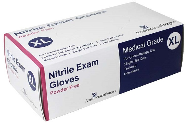 Glove Exam Nitrile Powder Free Blue - XLarge - Chemo Rated B180 By Amerisourcebe