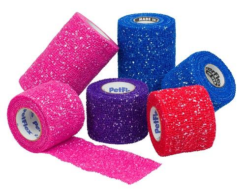 Tape Pet Flex 2 Glitter Assortment - Pink Black Red Blue & Purple Cs36 By An