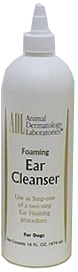 Ear Cleanser Foaming Antiseptic - Step 1 16 oz By Animal Dermatology Labs