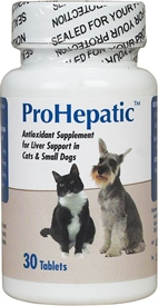 Prohepatic Liver Support [Cats & Small Dogs] B30 By Animal Health Options