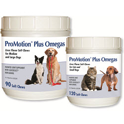 Promotion Plus Omegas Soft Chews - Cats & Small Dogs B120 By Animal Health Optio