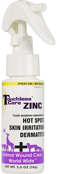 Touchless Care Zinc Spray 2 oz By Animal Wound Care Worldwide