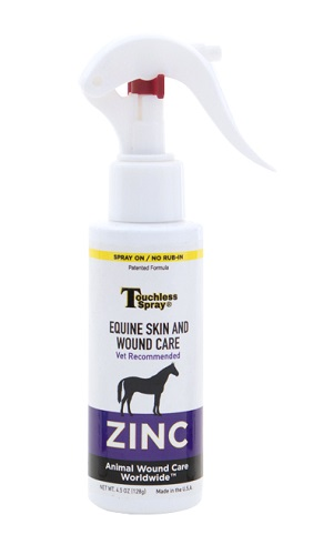 Touchless Spray Zinc 4.5 oz By Animal Wound Care Worldwide