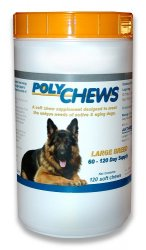 Polychews Soft Chews - Large Dogs B120 By Arthrodynamic Technologies