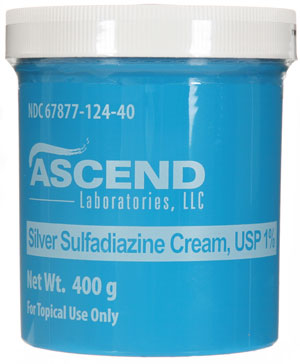 Silver Sulfadiazine 1% Cream Thermazene Jar 400gm By Ascend Laboratories LLC