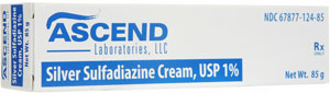 Silver Sulfadiazine 1% Cream Thermazene Tube 8 5gm By Ascend Laboratories LLC