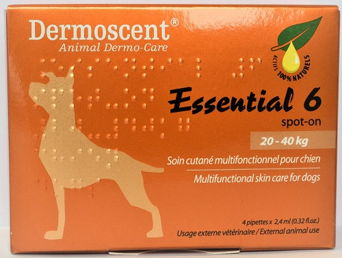 Dermoscent Essential 6 Spot-On Skin Care For Dogs 45 To 90 Pounds 2.4ml