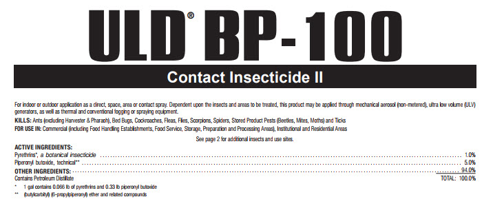 Uld Bp-100 Contact Instecticide 55Gal By Mgk Company