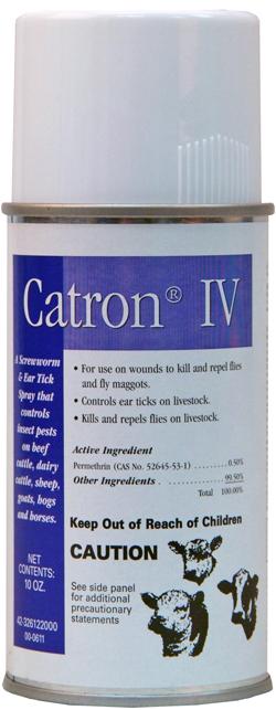 Catron IV Permethrin Screwworm & Ear Tick Spray Orm-D 10 oz By Bayer