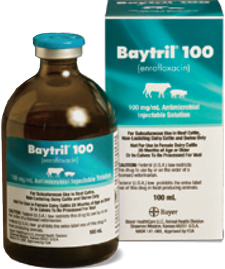 Baytril 100 Inj Non-Returnable 100cc By Bayer