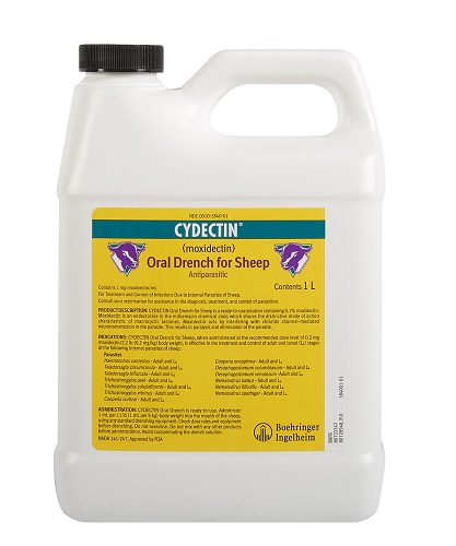 Cydectin Oral Drench For Sheep (Moxidectin) 1000C By Bayer