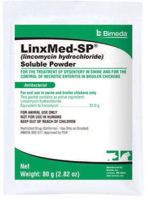 Linxmed-Sp Soluble Powder (Lincomycin) 80gm By Bimeda Pet