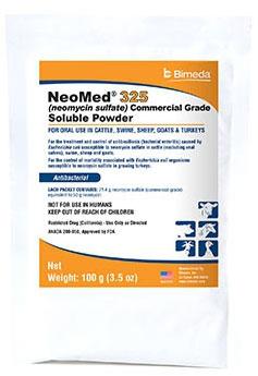 Neomed 325 [Neomycin] Powder 100gm By Bimeda Pet