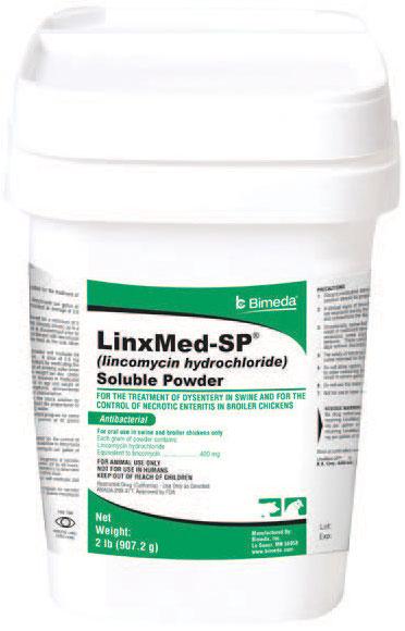 Linxmed-Sp Soluble Powder (Lincomycin) 2Lb By Bimeda Pet